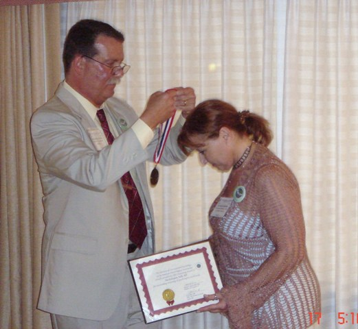 Dr. Kalayjian receiving award