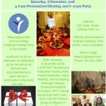 MW Holiday Gratitude Healing Party, 8 Dec, 2018