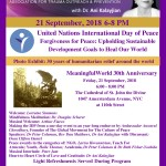 Meaningfulworld 21 Sept UN International Day of Peace, Forgiveness & Peace Keeping
