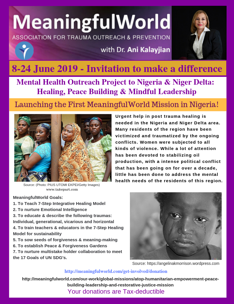 ATOP Meaningfulworld Mental Health Outreach Project to Nigeria and  Niger Delta