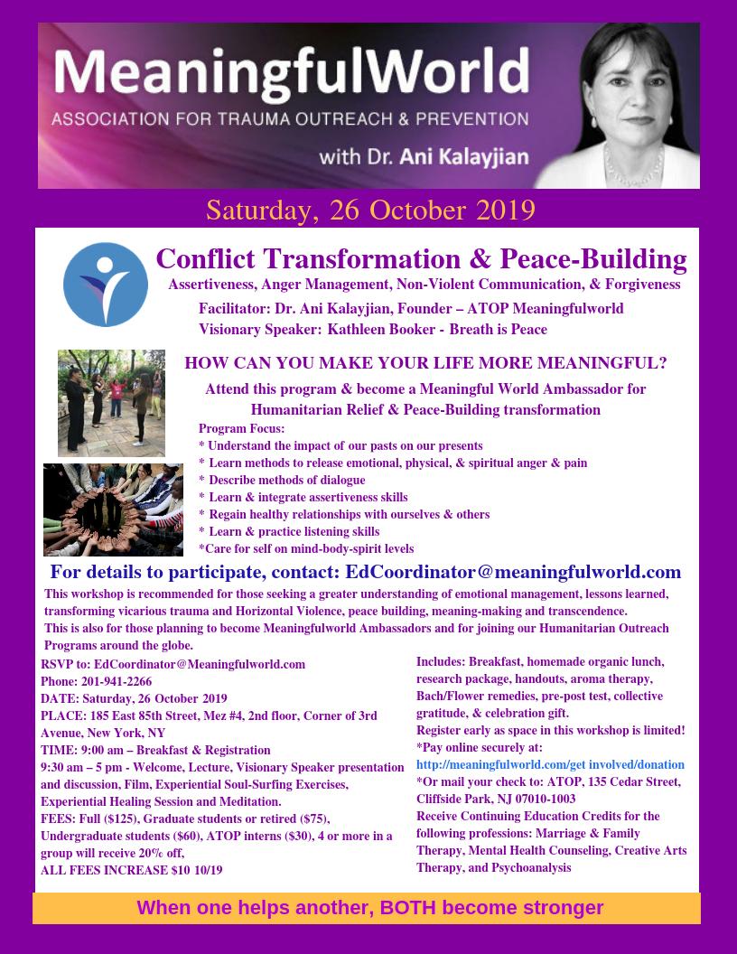 26 October, 2019 Workshop